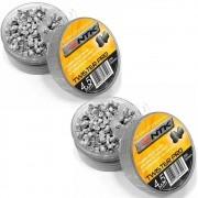 Kit Chumbinho Nautika Tático Twister Pro 4.5 mm com 250 Unidades 2un
