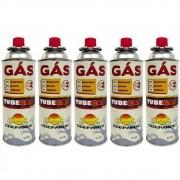 Kit de Gás TubeGas Guepardo Refil para Fogareiros e Maçarico Peso Líquido 227g 5un