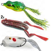 Kit de Iscas para Traíra com 4 unidades X Frog Monster 3x Speed Popper Bad Line e Crazy Frog Yara