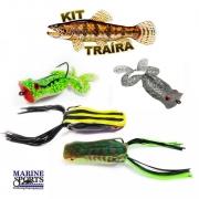 Kit de Iscas Para Traíra Marine Sports Frogger e Popper Frog Sapinhos 4 unidades