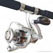 Kit de Pesca Fleming Molinete Garra 4000F 4 Rolamentos Recolhimento 5.2.1 + Vara Garra Grey GAS2102 2,10m 30lb