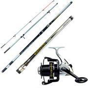 Kit de Pesca Marine Sports Verano Vara de Pesca Verano Surf VS-4203 4,20m + Molinete Verano 5000 6 rolamentos