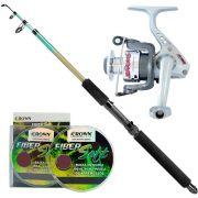Kit de Pesca Vara Phenix com Molinete Jimmy 100 + Linha Monofilamento