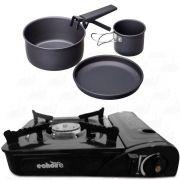 Kit Fogareiro Horizontal Echolife FO0002 e Kit Cozinha 4pç Guepardo