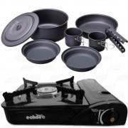 Kit Fogareiro Horizontal Echolife FO0002 e Kit Cozinha 8pç Guepardo