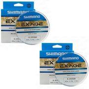 Kit Linha de Pesca Shimano Exage Extra Forte Monofilamento 300m 0,205mm 3,4kg 2un