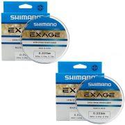 Kit Linha de Pesca Shimano Exage Extra Forte Monofilamento 300m 0,225mm 4,4kg 2un