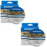 Kit Linha de Pesca Shimano Exage Extra Forte Monofilamento 300m 0,405mm 12,9kg 2un
