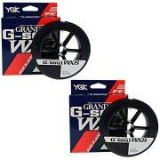 Kit Linha Multifilamento G Soul Grand PE Line WX8 YGK 8 Fios 0,21mm 25lb 300 metros Verde 2un