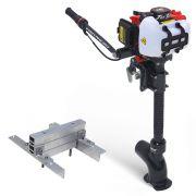 Kit Pantaneiro Jet Turbo Central+ Acelerador remoto + Suporte Central Foca, Mero e Marlin