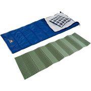 Kit Saco de Dormir com Travesseiro + Isolante Térmico