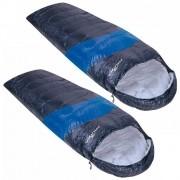 Kit Saco de Dormir Viper Nautika 5ºC a 12ºC Individual Cor Preto e Azul 2un
