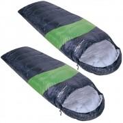 Kit Saco de Dormir Viper Nautika 5ºC a 12ºC Individual Cor Preto e Verde 2un