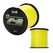 Linha de Pesca Celta F-2 Super Line Soft Monofilamento Amarelo 0,330mm 24Lbs 600M