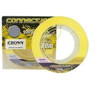 Linha De Pesca Crown Connection Multifilamento 9 Fios Amarelo 0,20mm 28lbs 150m