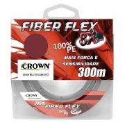 Linha de Pesca Crown Fiber Flex Multifilamento 8x 0,45mm 90Lbs 300M