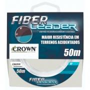 Linha de Pesca Crown Fiber Leader 0,52mm 35lb 50m