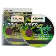Linha de Pesca Crown Fiber Soft Monofilamento Amarelo 0,26mm 14Lbs 250M