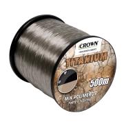 Linha de Pesca Crown Titanium Monofilamento 0,37mm 25lbs 500m