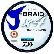 Linha de Pesca Daiwa J-Braid x4 Multifilamento 4 Fios Trançados Island Blue 0,25mm 30lb 270m