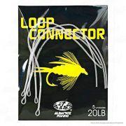 Linha de Pesca Fly Loop Connector Transparente Cartela com 5 Unidades