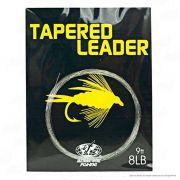 Linha de Pesca Fly Tapered Leader Transparente Líder Cônico 2,7 metros