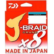 Linha de Pesca Multifilamento J-Braid Grand x8 Daiwa 8 Fios 0,32mm 40lb 135m Island Blue