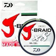 Linha de Pesca Multifilamento J-Braid x8 Daiwa 8 Fios Trançados 0,28mm 30lb 300m