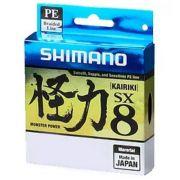 Linha de Pesca Shimano Kairiki PE Multifilamento 8 Fios Trançados Cinza 0.41mm 80lb 300m