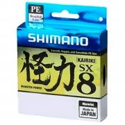 Linha de Pesca Shimano Kairiki PE Multifilamento 8 Fios Trançados Verde Claro 0,160mm 15lb 150m