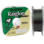 Linha de Pesca Super Raiglon Tournament Monofilamento # 24 0,810mm - 43,72kg 100m