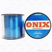 Linha Fastline Onix Invisible Azul 0,260mm 20lb 9,1kg Nylon 500M