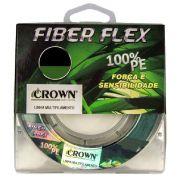 Linha Multifilamento de Pesca Crown Fiber Flex 100% PE 0,50mm Carretel com 200m Cor Verde