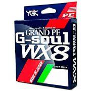 Linha Multifilamento G Soul Grand PE Line WX8 YGK 8 Fios 0,35mm 55lb 150 metros Light Green
