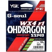 Linha Multifilamento G Soul Ohdragon WX4 YGK 4 Fios Verde 28lb 150m 0,24mm