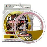 Linha Multifilamento G Soul Upgrade PE X4 Real Sports YGK 4 Fios 0,15mm 14Lbs 200 metros Rosa