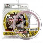 Linha Multifilamento G Soul Upgrade PE X4 Real Sports YGK 4 Fios 0,18mm 20lb 200 metros Rosa