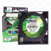 Linha Power Pro Multifilamento 300YDS (verde) 0,28mm 30Lbs 8 Fios - 14Kg 275m