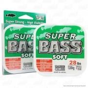 Linha Super Bass Green (verde) Marine Sports 0,43mm 28lb Monofilamento 250m