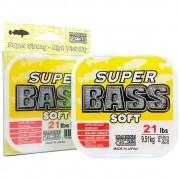 Linha Super Bass Yellow (amarela) Marine Sports 0,37mm 21lb Monofilamento 250m