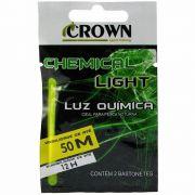 Luz Química Crown Ideal para Pesca Noturna Alcance 50m Duração 12h Cor Verde