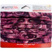 Máscara de Proteção Solar Monster 3X Cor Dark Rose com Filtro UV
