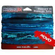 Máscara de Proteção Solar Monster 3X Cor Deep Blue com Filtro UV