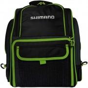 Mochila Shimano Backpack com 4 Estojos LUG1511 Preta e Verde