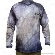 Camiseta de Pesca Mtk Attack com Proteção Solar Filtro UV Cor Pixe Tamanho:EX