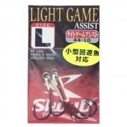 Suporte Hook Shout Light Game Assist Tamanho L Para Jigs Cartela com 2 unidades