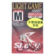 Suporte Hook Shout Light Game Assist Tamanho M Para Jigs Cartela com 2 unidades