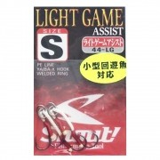 Suporte Hook Shout Light Game Assist Tamanho S Para Jigs Cartela com 2 unidades