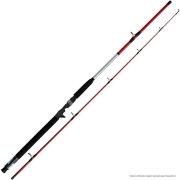 Vara de Pesca Shimano Cruzar Red 1,80m 8-16Lbs Ação Média Potência Média AX2602 Para Carretilha 2 Partes