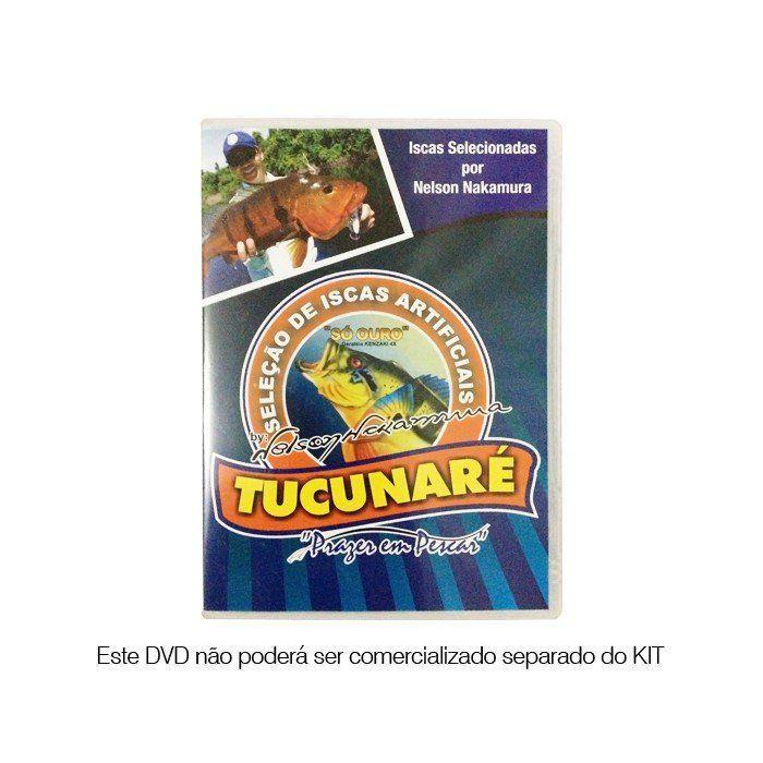 Kit de Iscas Artificias Nelson Nakamura Para Tucunarés Com DVD e Estojo Personalizado